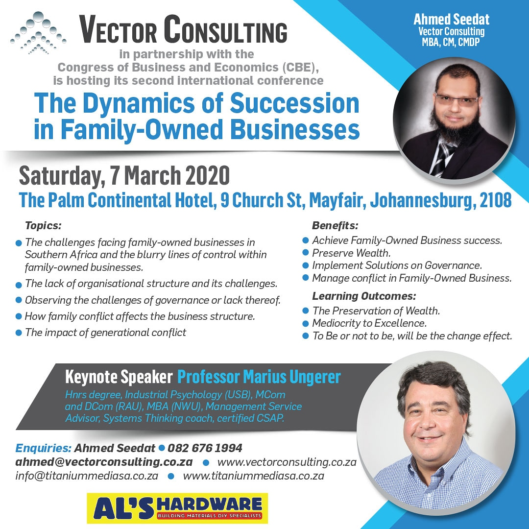 Dynamics of Succession in Family-Owned Businesses – 2nd Annual Conference